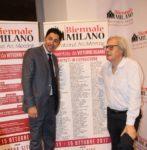 Biennale Milano 2017. Salvo Nugnes e Vittorio Sgarbi