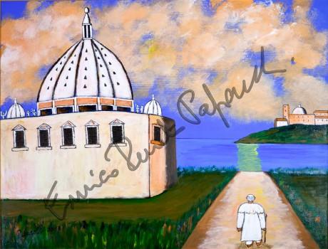 Coraggio e umiltà. Quadro di Enrico Renato Paparelli, pittore Roma.
