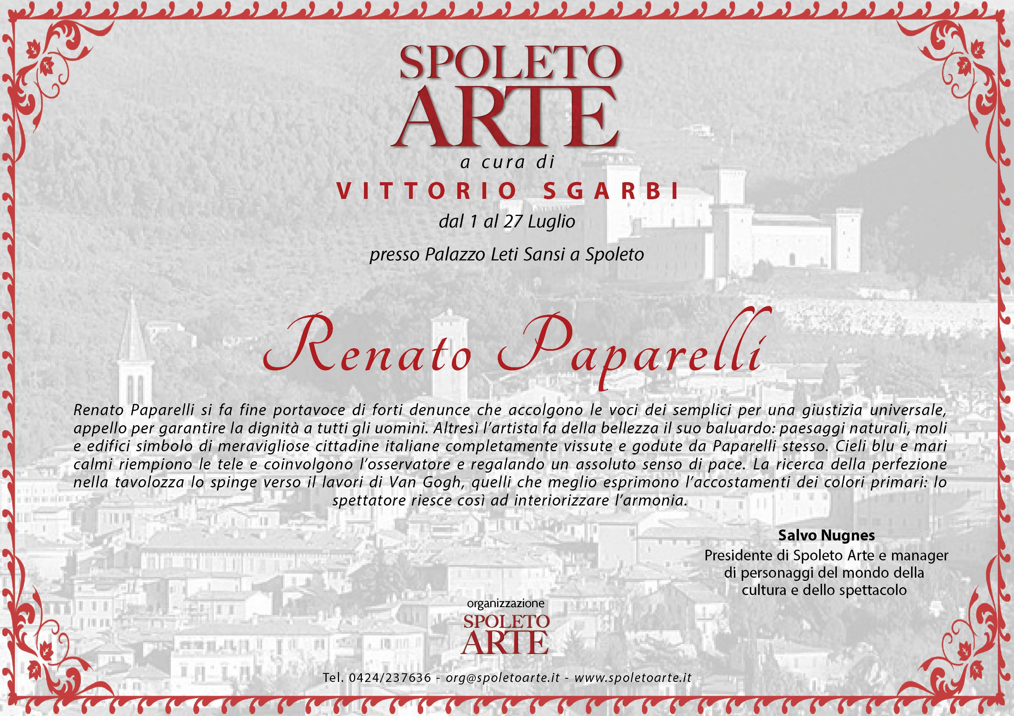 Critica di Salvo Nugnes per Enrico Renato Paparelli