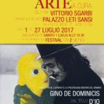 Locandina Spoleto arte 2017 a cura di Vittorio Sgarbi