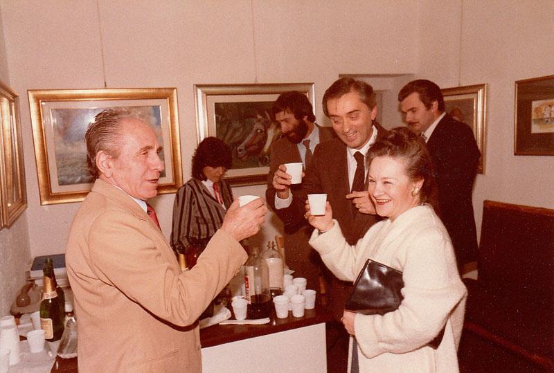 Forum Interart, 1984, con Mara Ferloni e Antonio de Marco
