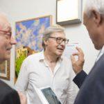 Spoleto Arte, 2017. Il Maestro Paparelli con Vittorio Sgarbi