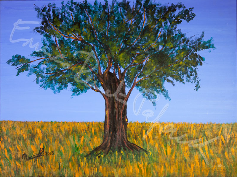 L'albero della vita. Quadro di Enrico Renato Paparelli, pittore Roma